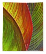 Leaf Abstract 3 Fleece Blanket