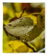 Leaf Dew Fleece Blanket