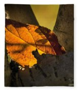 Leaf In Fork Fleece Blanket