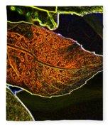 Leaf Interpretation Fleece Blanket