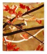 Leaf Me Alone Fleece Blanket
