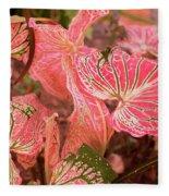 Leaf Of Color Fleece Blanket