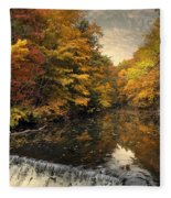 Leaf Peeping Fleece Blanket
