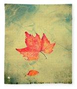 Leaf Upon The Water Fleece Blanket