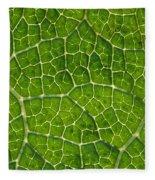 Leaf Veins Fleece Blanket