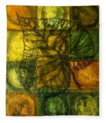 Leaf Whisper Fleece Blanket