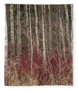 Leafless Color Fleece Blanket