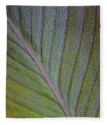 Leafy Texture Fleece Blanket