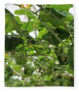 Leafy Vines Fleece Blanket