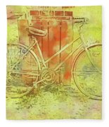 Leaning In Bicycle Fleece Blanket