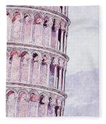 Leaning Tower Of Pisa - 03 Fleece Blanket