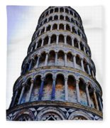 Leaning Tower Of Pisa In Tuscany, Italy Fleece Blanket