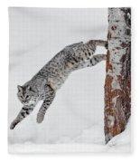 Leapin Bobcat Fleece Blanket