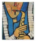 Learn To Work The Saxophone Fleece Blanket