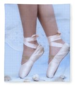 Learning To Walk In Dance World With Pink Pointe Shoes Fleece Blanket