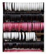 Leather Bracelets Fleece Blanket