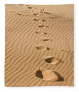 Leave Only Footprints Fleece Blanket