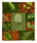 Leaves #2 Fleece Blanket
