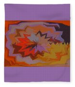 Leaves Abstract - Autumn Motif Fleece Blanket