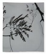 Leaves Against A Grey Sky Fleece Blanket