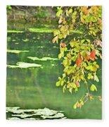Leaves And Water Fleece Blanket