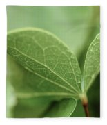Leaves, Fresh Fleece Blanket