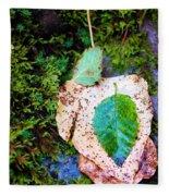 Leaves In A Pile Fleece Blanket