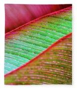 Leaves In Color  Fleece Blanket