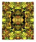 Leaves In The Fall Design Fleece Blanket