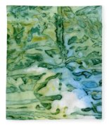 Leaves In Water Fleece Blanket