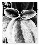 Leaves No. 36 Fleece Blanket