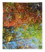 Leaves Of All Colors Fleece Blanket