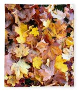 Leaves Of Fall Fleece Blanket