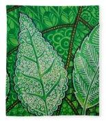 Leaves Of Spring Fleece Blanket