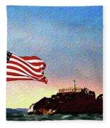 Leaving Alcatraz Fleece Blanket