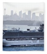 Diamond Princess Leaving Sydney Fleece Blanket