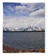 Leaving The Grand Tetons Fleece Blanket