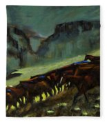 Leaving The Mesa Fleece Blanket
