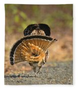 Leaving The Scene Grouse Fleece Blanket