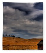Leaving The Shed Fleece Blanket