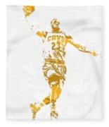 Lebron James Cleveland Cavaliers Pixel Art 12 Fleece Blanket