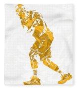 Lebron James Cleveland Cavaliers Pixel Art 13 Fleece Blanket