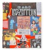 Led Zeppelin Color Collage Fleece Blanket