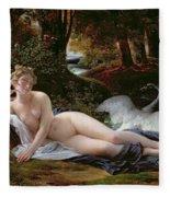 Leda And The Swan Fleece Blanket