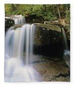 Ledge Brook - White Mountains New Hampshire Usa Fleece Blanket