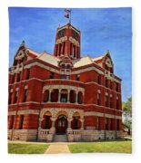 Lee County Courthouse Giddings Texas 2 Fleece Blanket