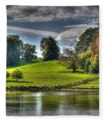 Leeds Castle Lake View Fleece Blanket
