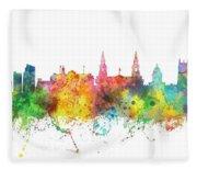 Leeds England Skyline Fleece Blanket