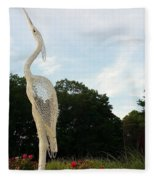 Left Crane Fleece Blanket