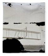 Left View Of Wilbur Gliding Kitty Hawk Lifesaving Station And Weather Bureau Buildings In Distance K Fleece Blanket